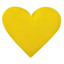Vankúšik Korall micro Srdce žltá, 42 x 48 cm
