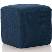 Husă multielastică Cagliari, pentru taburet, albastru, 40 - 60 cm
