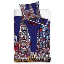 Bavlněné povlečení New York Times Square, 140 x 200 cm, 70 x 80 cm