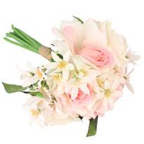 Umelá kytica ruží s kvetmi bledavky