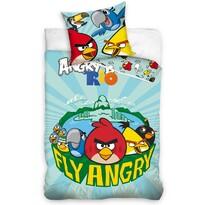 Detské bavlnené obliečky Angry Birds Fly, 140 x 200 cm, 70 x 80 cm