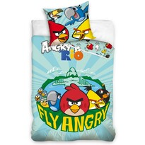 Lenjerie din bumbac pentru copii Angry Birds Fly, 140 x 200 cm, 70 x 80 cm