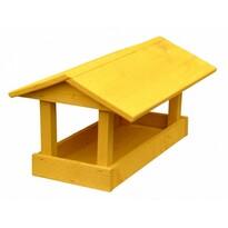Krmítko pro ptáčky Home, žlutá