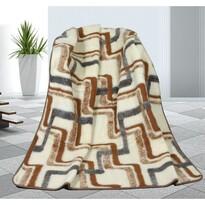 Pătură din lână Geometrie, 155 x 200 cm