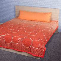 Přehoz na postel Myra oranžová, 220 x 240 cm