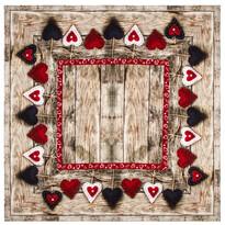 Ubrus Christmas Heart, 85 x 85 cm
