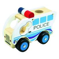 Bino Dřevěné auto Policie, modrá