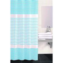 Zasłona prysznicowa Darja niebieski, 180 x 180 cm