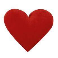 Polštářek Srdce červené, 30 x 45 cm