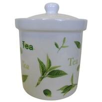 Pojemnik ceramiczny Listki herbaciane, 750 ml