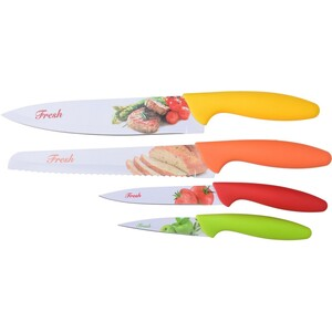 4-dielna sada nožov s plastovou rukoväťou