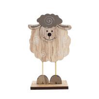 Dekoracja owca brązowy, 15,5 cm