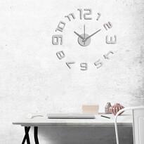 StarDeco Zegar ścienny liczby srebrny, śr. 60 cm