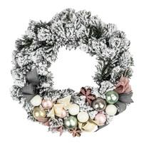 Wieniec bożonarodzeniowy Orbio szary, śr. 25 cm