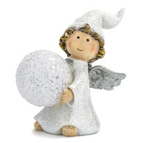 Vánoční andílek s LED koulí