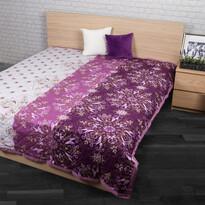 Prehoz na posteľ Alberica fialová