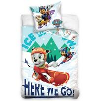 Dziecięca pościel bawełniana Psi patrol Snowboardziści, 140 x 200 cm, 70 x 80 cm