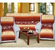 Přehozy na sedací soupravu Karmela Plus Květy medové, 150 x 200 cm, 2 ks 65 x 150 cm
