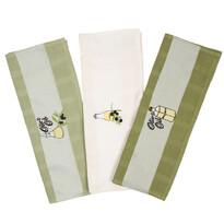 Oliva konyhai törlőkendő, 50 x 70 cm,3 db-os szett
