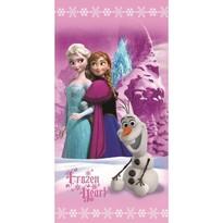 Ręcznik kąpielowy Kraina lodu Frozen Pink trio, 70 x 140 cm