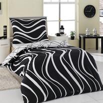 Bavlněné povlečení Arogant černá, 220 x 200 cm, 2 ks 70 x 90 cm