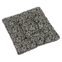 Sedák Ivo krajka černá na režné, 40 x 40 cm