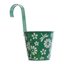 Závěsný květináč Flowers zelená, pr. 14 cm
