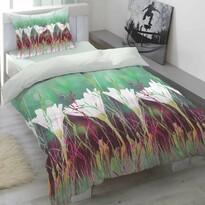 Pościel satynowa Aria Floral, 140 x 200 cm, 70 x 90 cm
