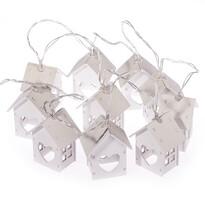 Lampki choinkowe Domki z serduszkiem, 10 LED