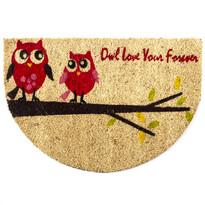 Preş Owl love semicerc, 40 x 60 cm