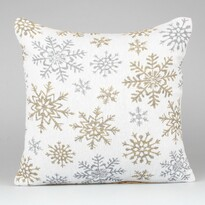 Povlak na polštářek Snowflakes bílá, 40 x 40 cm
