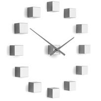 Future Time FT3000SI Cubic silver Design falra ragasztható óra, átmérő 50 cm