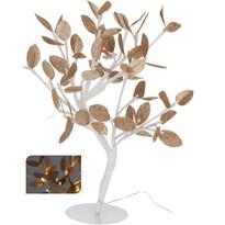 Svietiaci stromček so zlatými lístkami, 32 LED