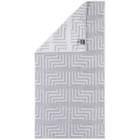 Cawö Frottier ręcznik kąpielowy Decor biały, 80 x 200 cm