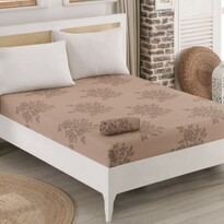Cearsaf de pat Jersey Natura maro, 90 x 200 cm