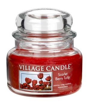 Village Candle Vonná sviečka Tulipány - Scarlet Berry Tulip, 269 g