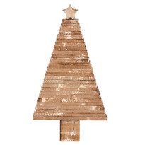 Dekorációs beállítható karácsonyfa, barna