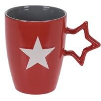 Keramický hrnček Star 330 ml, červená