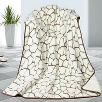 Pătură din lână DUO Caschmere Pietre, 155 x 200 cm