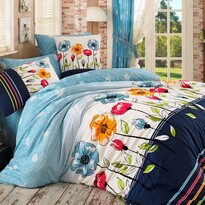 Bavlnené obliečky Amanda modrá