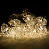 Fényfüzér dekoratív szívecskékkel, 10 LED