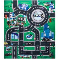 Mata do zabawy dla dzieci z samochodami Police city, 70 x 80 cm