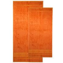 4Home komplet ręczników Bamboo Premium pomarańczowy, 70 x 140 cm, 50 x 100 cm