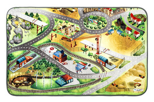 Dywan dla dzieci Ultra Soft Plac budowy, 95 x 145 cm