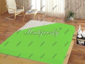 Prześcieradło frotte Matějovský zielone, 100 x 200