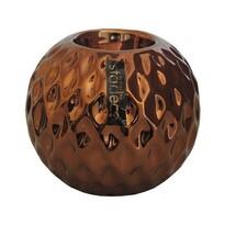 StarDeco Okrúhly svietnik bronzová, 10 cm