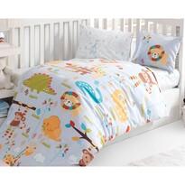 Detské bavlnené obliečky do postieľky ZOO, 100 x 135 cm, 40 x 60 cm