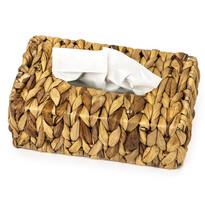 Box na kapesníky Water Hyacinth hnědá, 25 x 15 cm