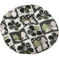 Pernă scaun Dana rotundă Fluture patchwork, 40 cm