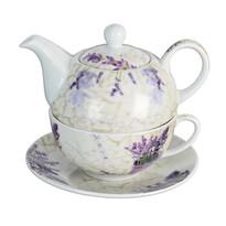 Set din porţelan ceainic cu ceaşcă Orion Levander